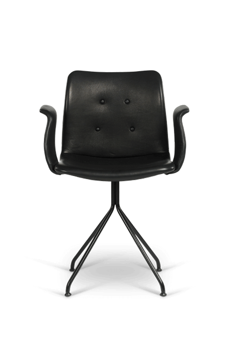 primum arm chair_fixed base_black