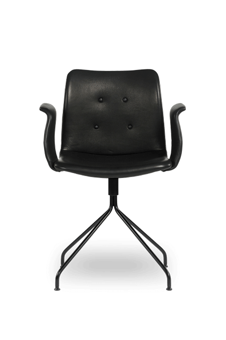 primum arm chair_swivel base_black