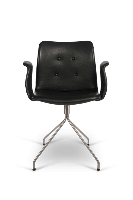 primum arm chair_swivel base_stainless