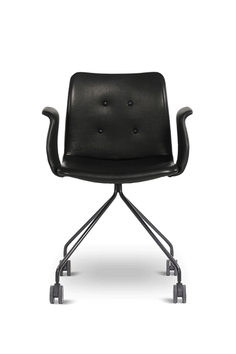 primum arm chair_wheels_black